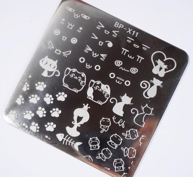 Born Pretty - Cat Design Stamping-Schablone (BP-X11)