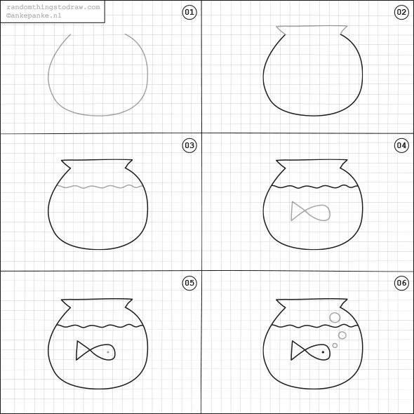 Cara Mudah Menggambar Ikan  Untuk Anak-Anak  2