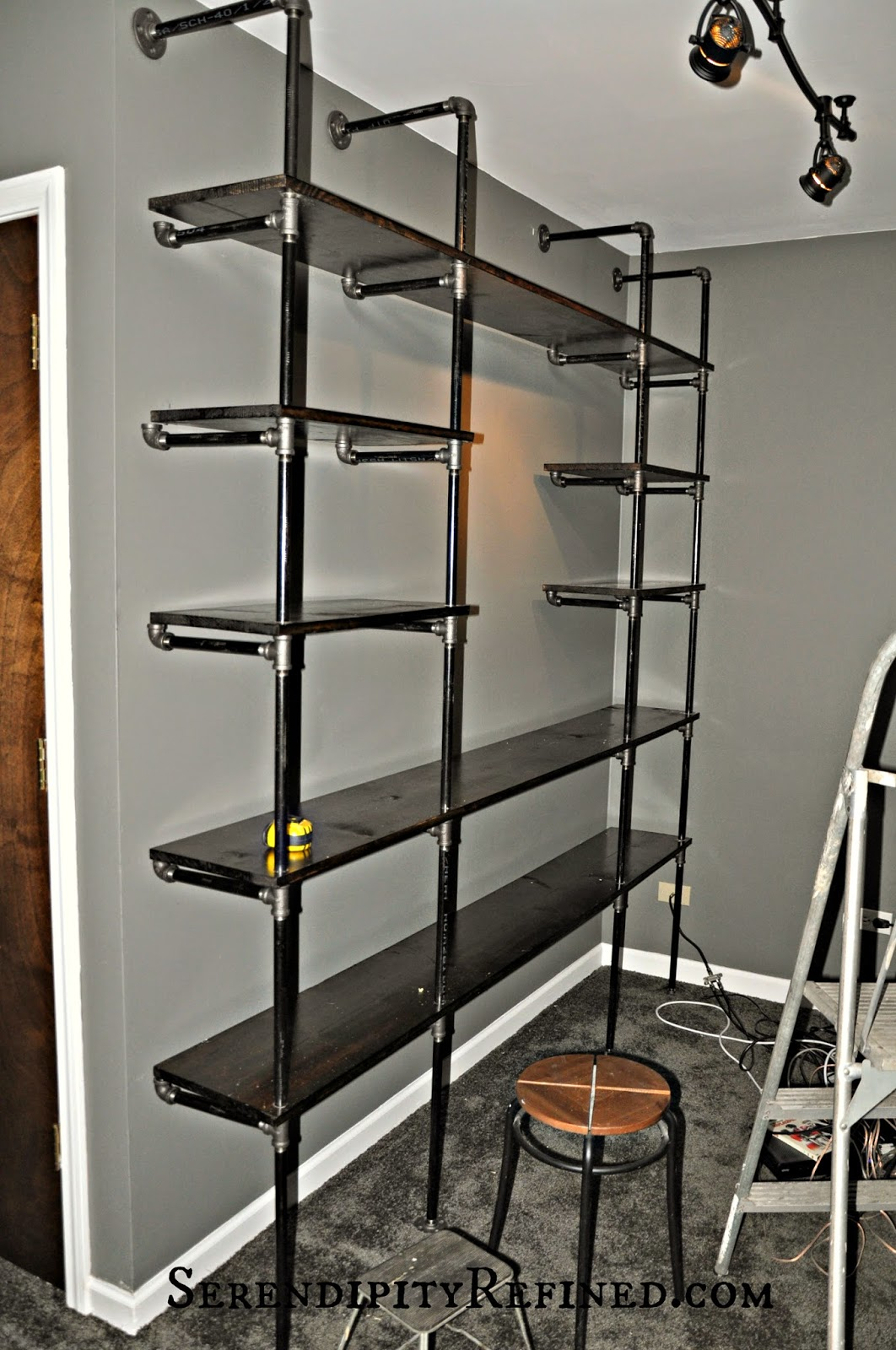 Serendipity Refined Blog Diy Industrial Pipe Shelves For