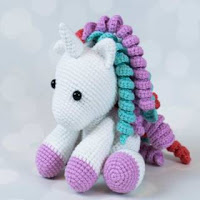 Lavender Unicorn Crochet Pattern ONLY not a finished product ... | 200x200