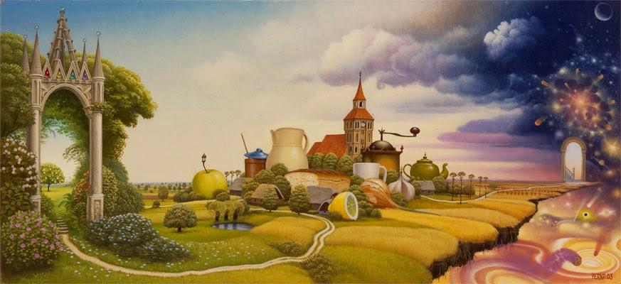 A Estrada - Jacek Yerka e seu surrealismo fantástico ~ Polonês