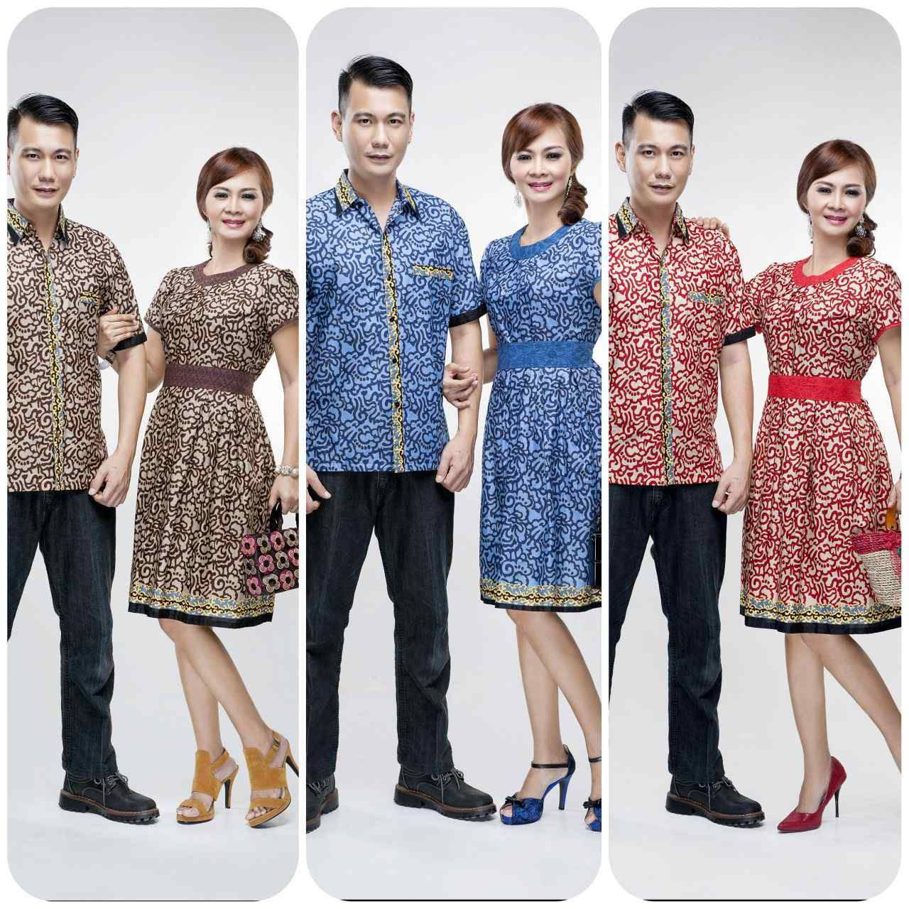 Baju Batik Couple Motif Masa Kini Batik Bagoes Solo