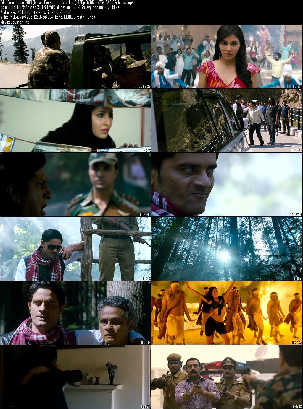 Screen shot Commando 2013 Hindi HD 720p