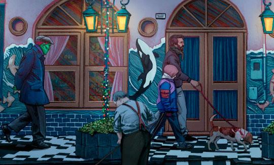 Ilustración, Paseo nocturno de Julian Sequeira