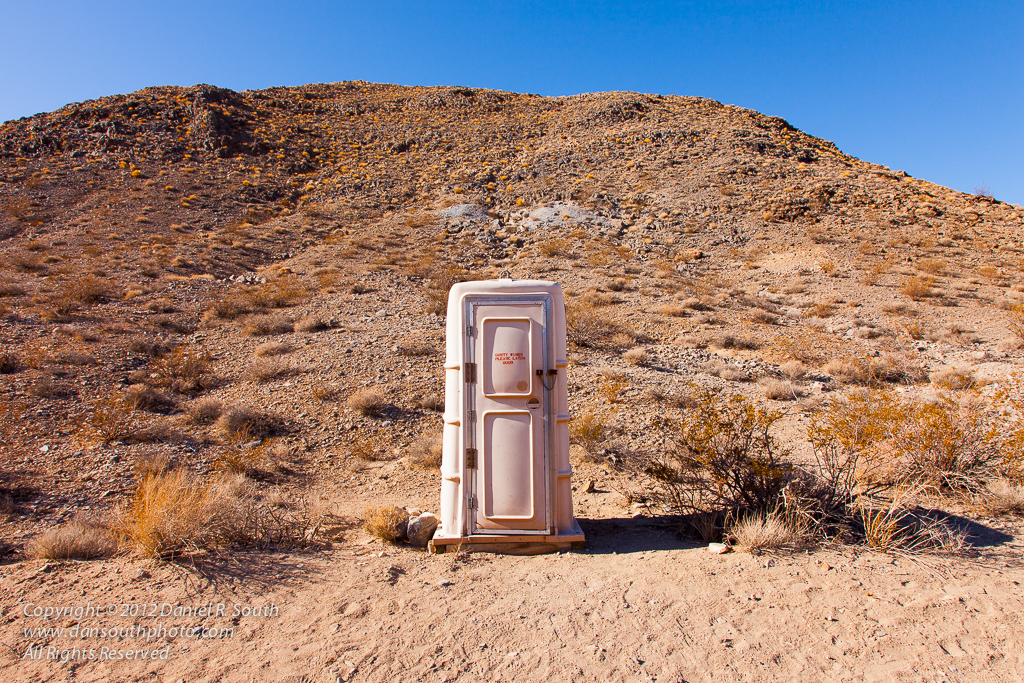 a photo of an outhouse in death valley