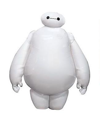 Balon Foil Karakter Baymax Putih