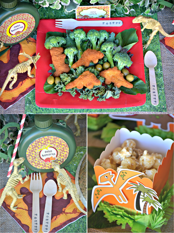 Dinosaur Birthday Party Ideas & Printables - via BirdsParty.com
