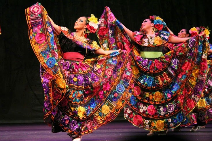 This Colorful Dress Is The Costume Worn To Dance Songs In State Of Chiapas Mexico That Are Danced Cheerful