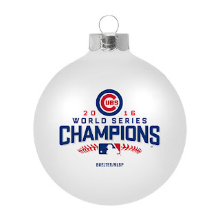 Help your favorite Cubs fan remember the season with a 2016 World Series Champions tree ornament. Not that they're likely to forget!