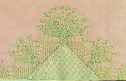 Bico de Crochê Com Gráfico - Modelo 2 Trabalhos em Crochê - Barrados Com Canto