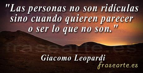Frases famosas de Giacomo Leopardi