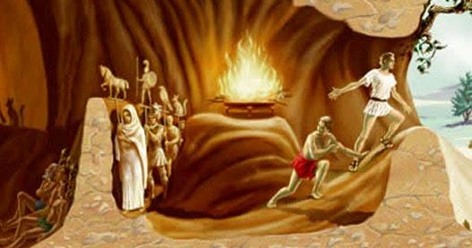 El mito de la caverna de Platón, un texto de lectura