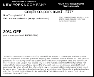 New York And Company coupons for march 2017