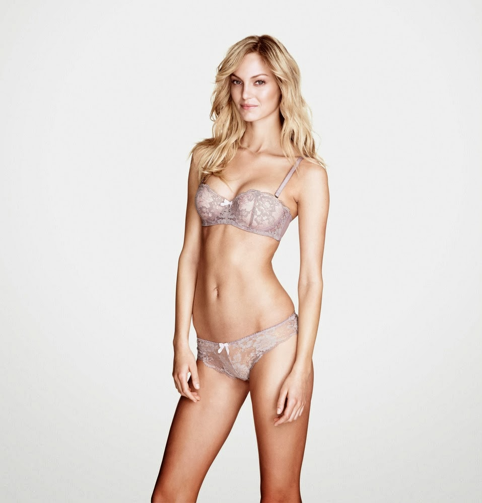 H&M Lingerie and Swimwear December 2013 Lookbook featuring ...