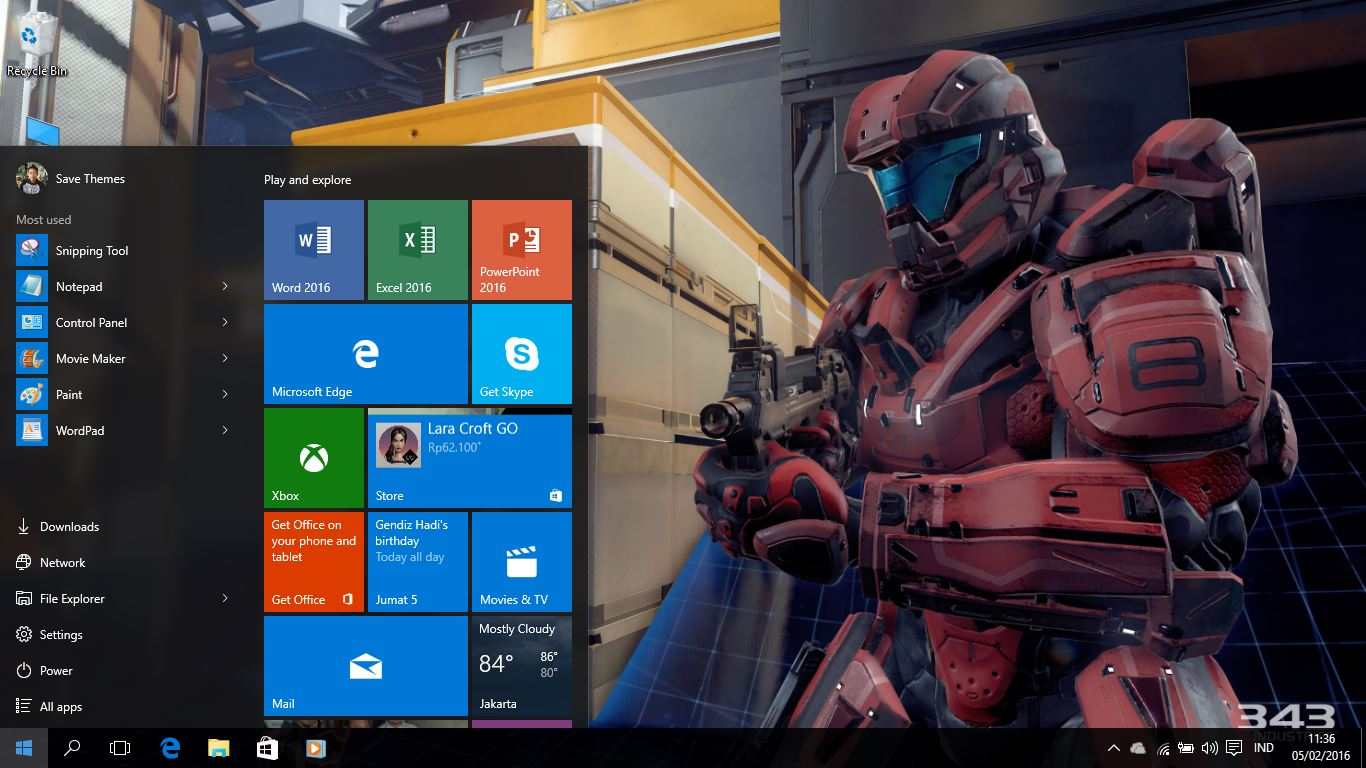 Halo 5 Guardians Theme For Windows 7/8/8 1 and 10 - Save Themes