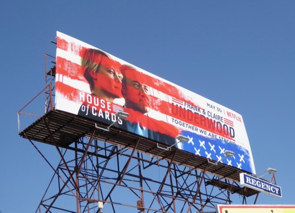 House of Cards season 5 Stars and Stripes billboard