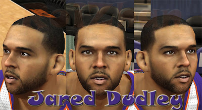 NBA 2K13 Jared Dudley 2K Cyberface Patch