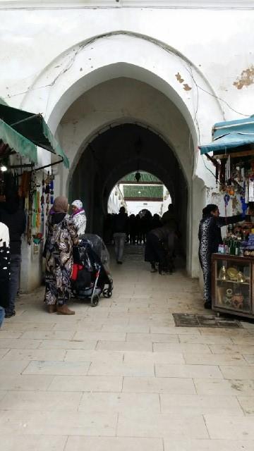 Entrada a la colina Tasga de Moulay Idriss