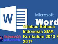 Silabus Bahasa Indonesia SMA Kurikulum 2013 Revisi 2017