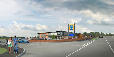 Artist's impression of how the new Aldi store planned in Brigg will look