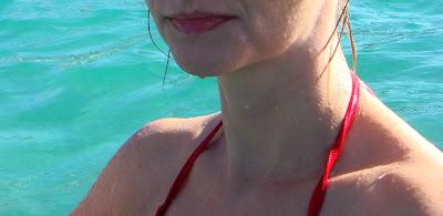 selfie w morzu, Grecja
