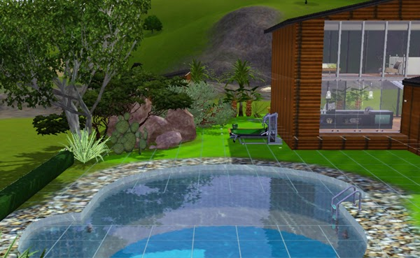 Koalafolio sims3 house living design home alone lot for Pool design sims 3