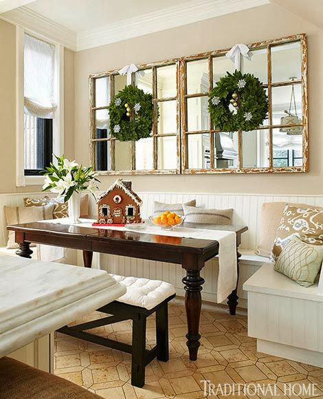 Wall Mirrors For Dining Room: FOCAL POINT STYLING: CHRISTMAS KITCHEN DECORATING IDEAS