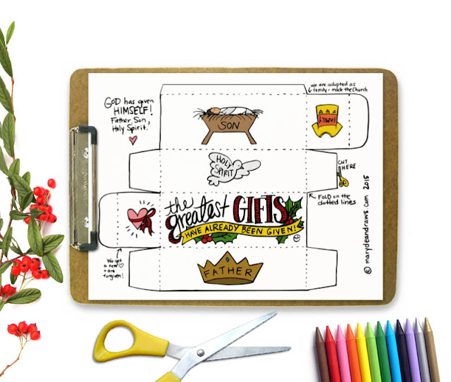 The Greatest Gifts Already Given Christmas Box Printable Marydean Draws