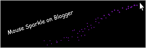 How to Get Sparkles That Follow Your Mouse on Blogger