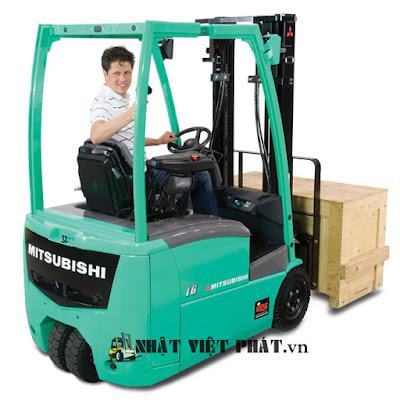 Xe nâng điện Mitsubishi ngồi lái: Từ 1.0 – 2.0 tấn (3 bánh)