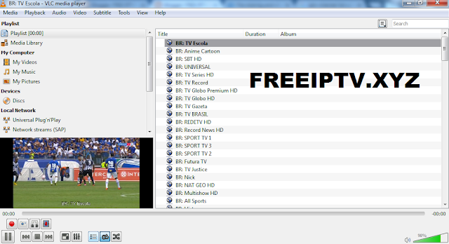 Free IPTV m3u Brasil - Download Free IPTV Links List m3u