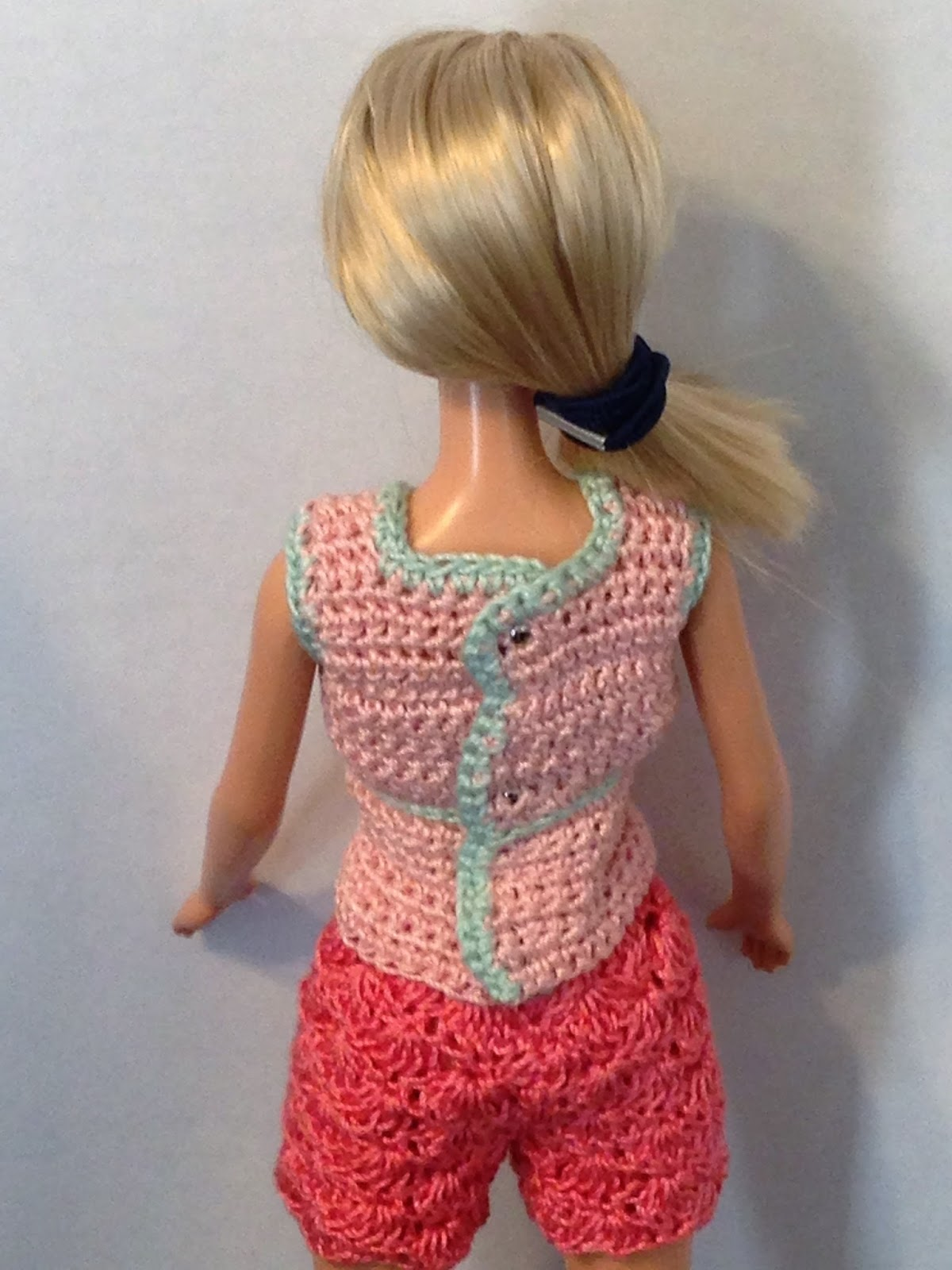 Crochet Pattern For Doll Sling : KJ Doll Fashions: 11.5? Fashion Doll (Barbie) V-neck Wrap ...