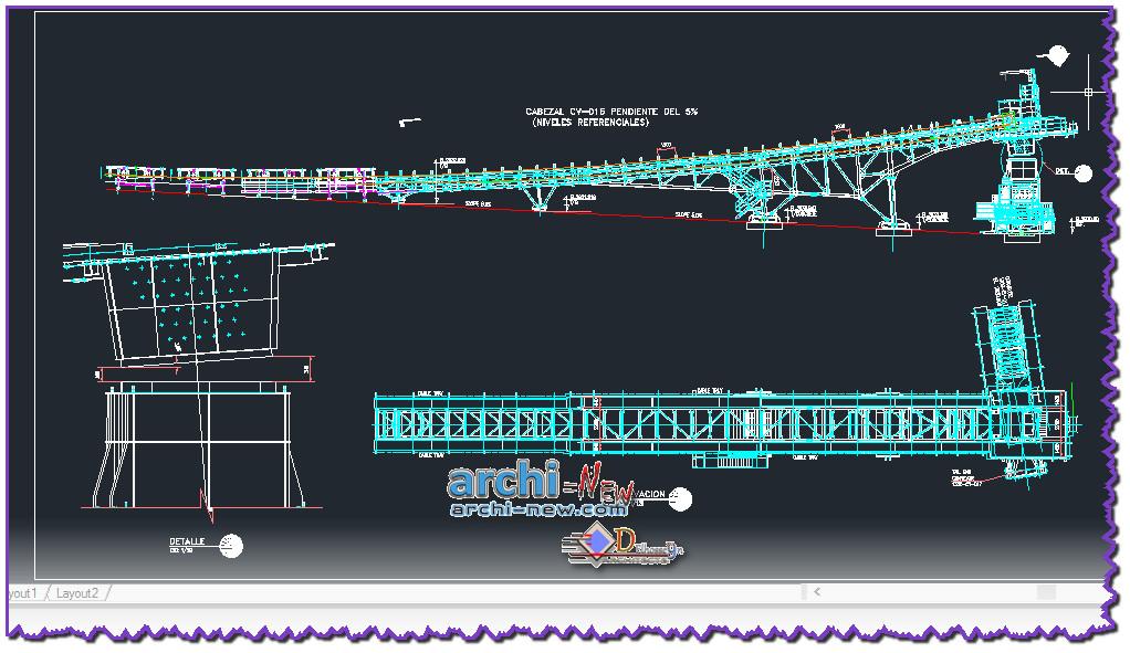 Download AutoCAD CAD DWG File Conveyor Belt Archi new