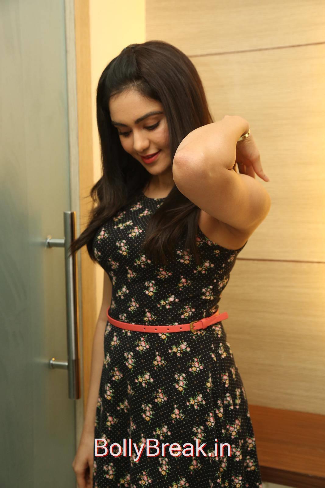 Tollywood Actress Adah Sharma, Adah Sharma Hot Pics in Black Skirt Dress