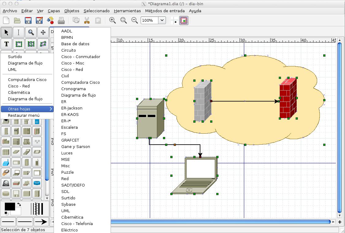 Seguridad apple dia diagram editor hacer diagramas tipo visio en figura 1 dia permite crear diagramas con mltiples libreras tiene soporte en espaol ccuart Image collections