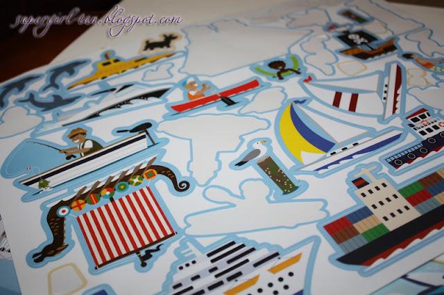 многоразовые наклейки о море