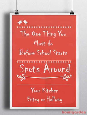 The One Thing You Must do Before School Starts | Ideas for Spots Around Your Kitchen, Entry or Hallway