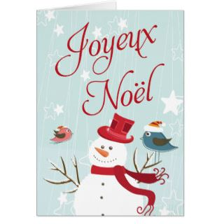 Joyeux Noël Cards in French