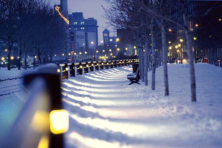 karlı şehir manzaraları kış resimleri