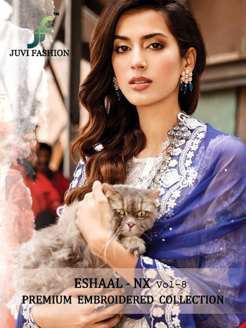 Juvi Fashion Eshaal vol 8 nx Pakistani Suits wholesaler