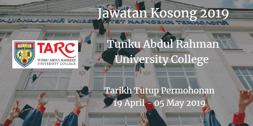Jawatan Kosong TARUC 19 April - 05 May 2019
