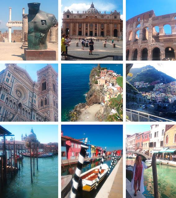 Roman holiday, Italian road trip, Interrail Italy, Italia, Italy, Pompeii, Vesuvius, Florence, Cinqueterre, Venice, Burano Island, Manarola, Murano Island, Summer Holiday