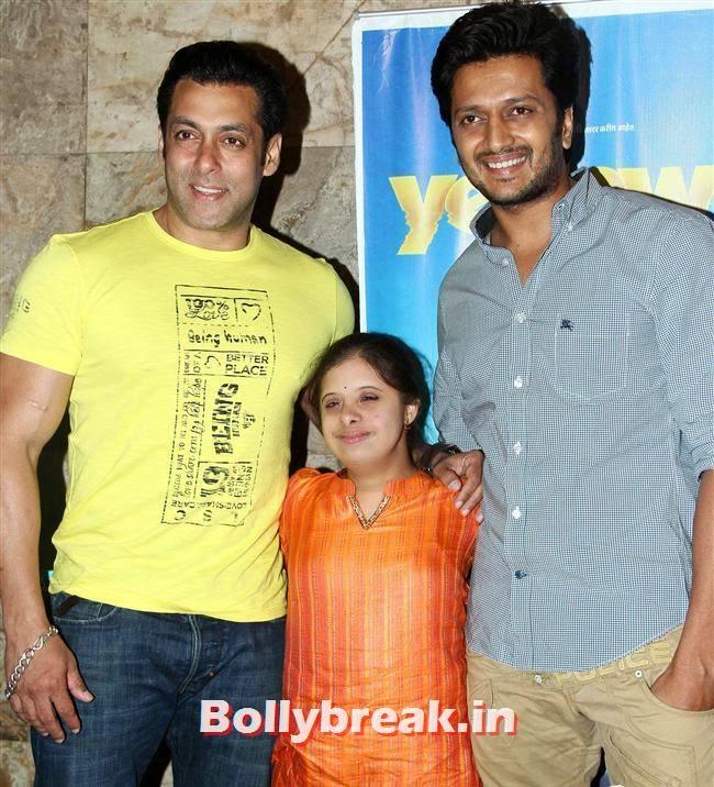Salman Khan and Ritesh Deshmukh, Genelia D Souza, Salman Khan at Special Screening of Film Yellow