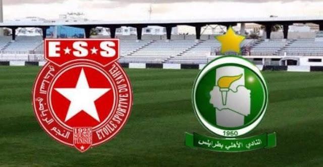 نتيجة مباراة النجم الساحلي واهلي طرابلس اليوم الأحد 24/9/2017 في ربع نهائي دوري أبطال أفريقيا