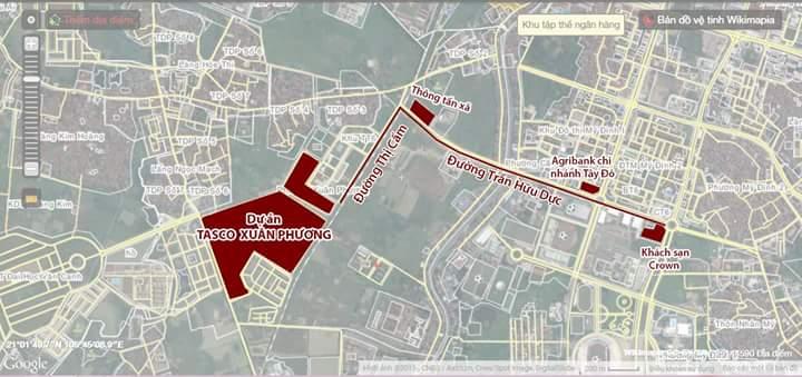 Vị trí khu đô thị Xuân Phương