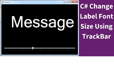 change label font size