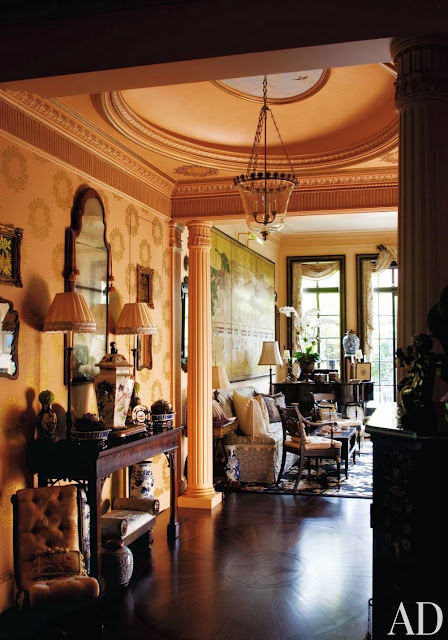 Unique Black Wallpaper Hydrangea Hill Cottage A Traditional New York Penthouse