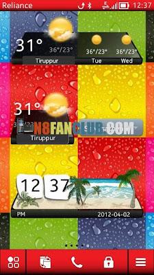 3D Weather Widget - Nokia 808 / 700 / 701 / 603 / N8 / X7 / C7 / C6-01 / E7 - Symbian Belle - Free Widget Download