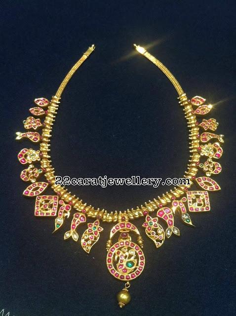Kundan Ruby Set in 22carat Gold