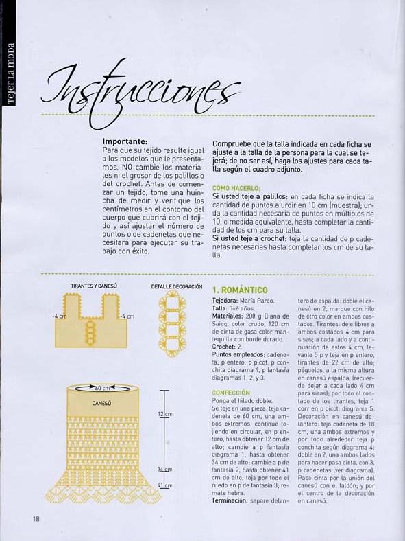 revista de modelos para tejer para niñas